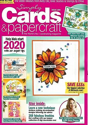 Simply Cards & Papercraft  Magazine Issue 200. December  2019   No  Free Gift