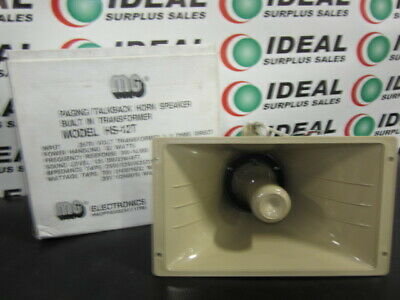 MG Electronics HS-12T Paging/Talkback Horn Speaker - NEW IN BOX