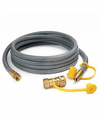 """3//4/"""" CRIMPED LOW PRESSURE PROPANE NATURAL GAS SUPPLY HOSE ASSEMBLY VAPOR AIR NPT"""