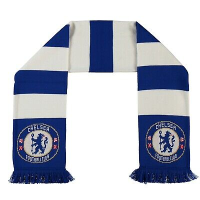 Official Knitted Chelsea Fc Bar Scarf, Brand New