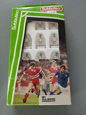 Subbuteo Team 691 Real Madrid Anderlecht Rare Collectable Football Figures Game