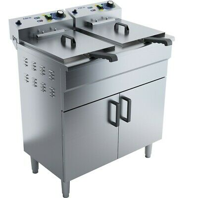 Commercial Fryer Double Electric 2x16 litre 6kW Free standing
