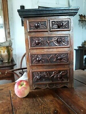 A Fantastic Arts And Crafts Miniature Chest Of Drawers Apprentice Piece