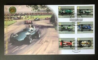 2007 Buckingham Covers - Sir Stirling Moss 50th Anniversary signed FDC.