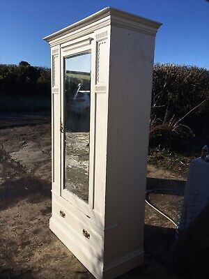 Edwardian Painted Solid Wood Wardrobe