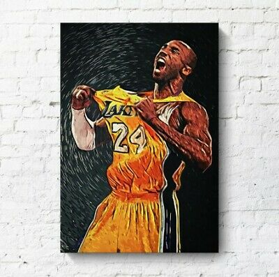 Kobe Bryant Poster Basketball Modern Simple Living Room Decoration Painting.