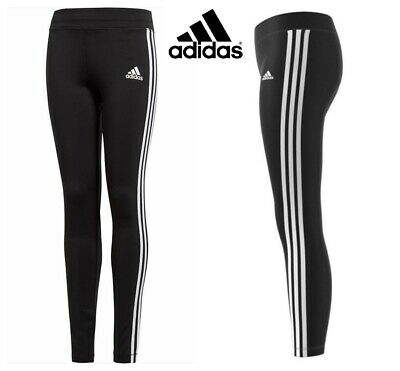 Adidas Girls Leggings Gym Jogging Pants 3 Stripes Leggins Bottom Age 10 12 Year
