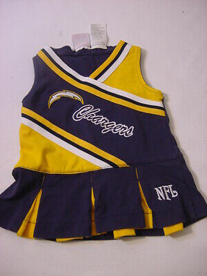 Nfl La Chargers Cheerleader Baby Costume Dress Outfit 6-9 Months