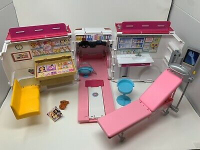 Barbie Care Clinic Two-in-One Playset Ambulance Hospital Lights & Siren