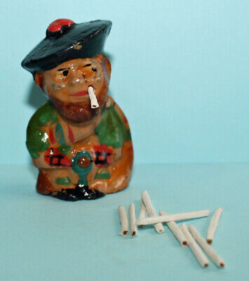Alte Raucherfigur magische Zigarette Schotte Magic Cigarettes Scotsman Figure