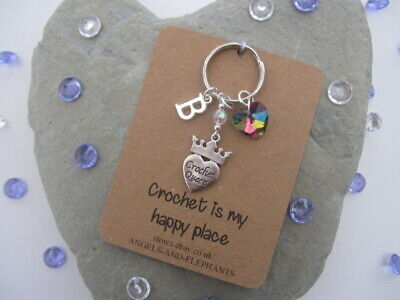 Crochet Keyring, Keychain, Personalised, Crochet Gift, Crafter, Mothers Day Gift