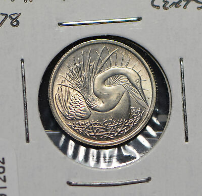 Singapore 1978 5 Cents Snake bird animal  191262 combine shipping