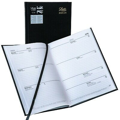 Letts Milano Week to View 2020 Planner 6.625 X 6.25 inch CTO3SUBK-20 Black