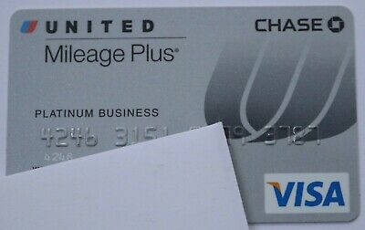 Expired 05/2009 Chase Bank Platinum Business United Airlines Visa Credit Card