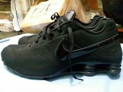 NIKE SHOX DELIVER running shoes sneakers ALL BLACK Suede Mens size 13 USED *READ