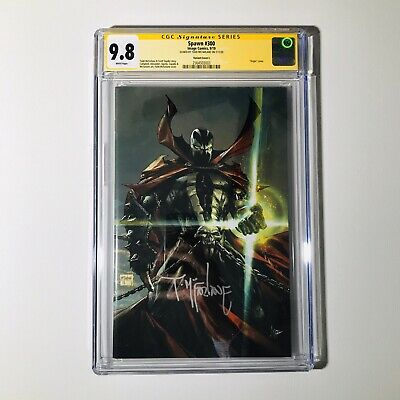 🔥🔥🔥Spawn #300 1:50 Signed Todd Mcfarlane Cover L Virgin Variant CGC 9.8🔥🔥🔥