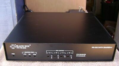 BLACK BOX RS-232 - Model TL 553A R3 4 PORT DATA SHARER  connection to 4 devices