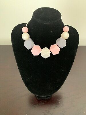 Women's Sensory Necklace (was teething)- silicone beads - baby shower gift.