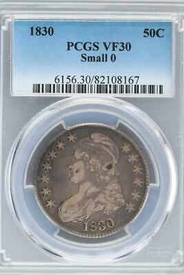 1830 Capped Bust Half Dollar PCGS VF 30 Small 0 - *DoubleJCoins* - 3006-33