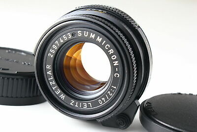 [B- Good] Leica SUMMICRON-C 40mm f/2 Lens for M Mount CL CLE From JAPAN 6156