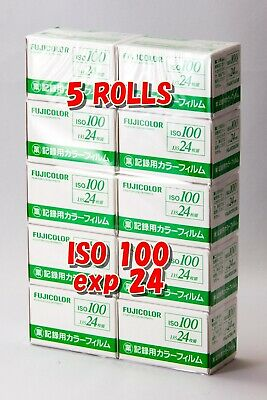 NEW! 5 ROLLS Fujifilm Fujicolor Industrial film ISO 100 35mm 24 EXP 135 JAPAN #2
