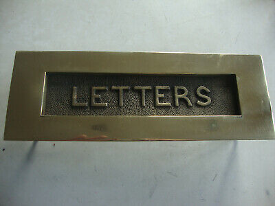 "Excellent quality large genuine antique brass ""Letters"" letterbox 13""x4,25"""