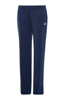 adidas Performance Girl's Basic Track Logo Pants - UK 10 - Navy - New