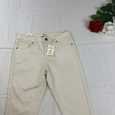 Forever 21 Women's Sunset Midrise Skinny Bone/ Cream Color Pants Size 28 NWT