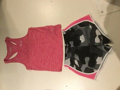 Girls gym sports NIKE shorts & t shirt vest top bundle age 13-14 VGC