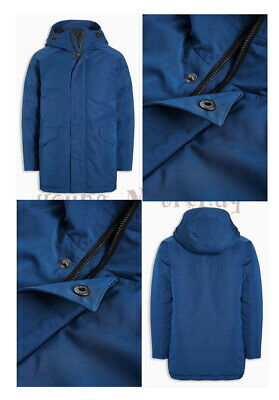 RRP £34 BNWT NEXT 3-4 years boys BLUE HOODED JACKET WITH ZIP *SHOWERPROOF