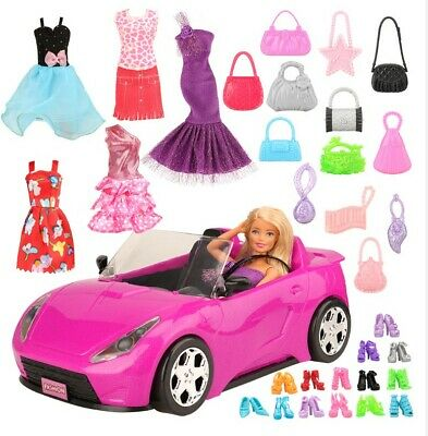 26 items/set Accessories with car For Barbie doll