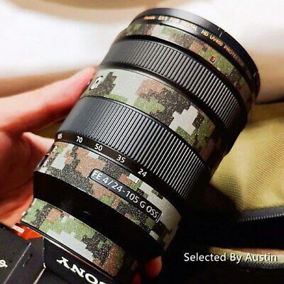 RAYANSPHOTO Lens Guard Skins Wrap Cover Decal Protector Wear Case for Sony Prime Lenses Series Pattern Litchi Grain FE 50mm F1.4 ZA