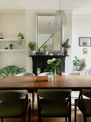 Dining Table by Henry W. Klein Bramin 1960s Midcentury Seats 8