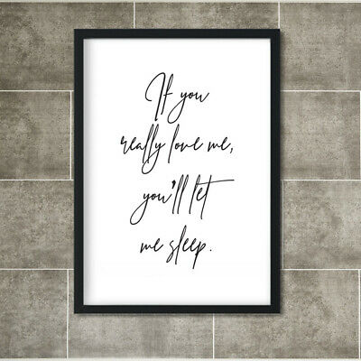 Love Quotes Poster Partners Couples Friends Print Wall Art Bedroom Sweet Gift A4