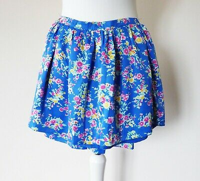 POLO RALPH LAURENP Girl Mini Tennis Cheer Leader Blue Floral Skirt Size M 8 -10