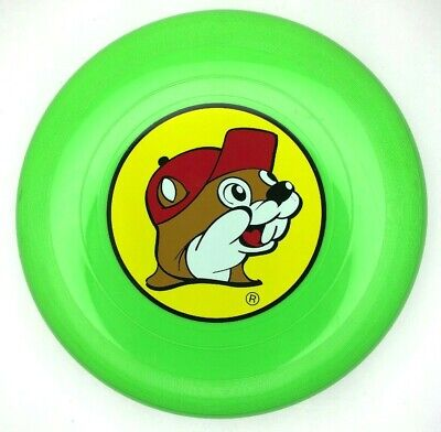 """Buc-ee's 11"""" Lime Green Frisbee Texas Gas Station Convenience Store Mascot"""