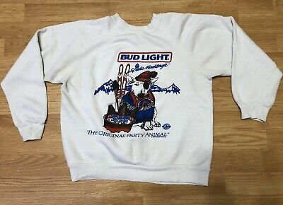 Vtg 1980's Spuds Mackenzie Bud Light The Original Party Animal Sweatshirt Size L