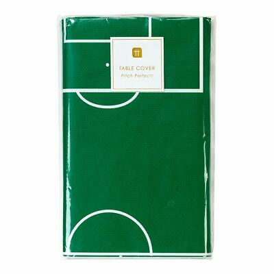 Football Party Champions Table Cover Green Footie Pitch Paper Cover
