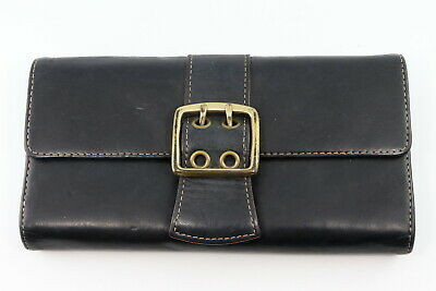 Franklin Covey Leather Black Trifold Wallet