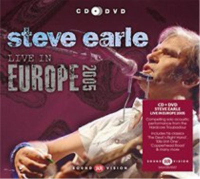 Steve Earle-Live in Europe 2005 CD with DVD NUEVO