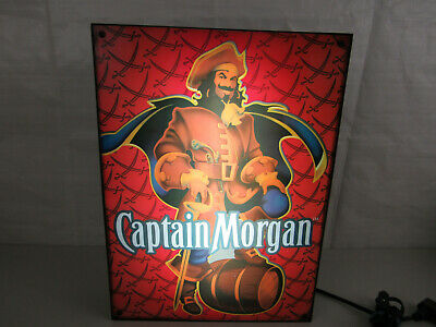 "Captain Morgan Rum Bar Neon Light Box 13 1/2"" x 18 1/2"" X 3 1/4""-Works"