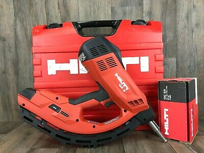 HILTI GX-3-Complete Nail Gun Kit - Track Drywall Gas Actuated Tool Fastening 120