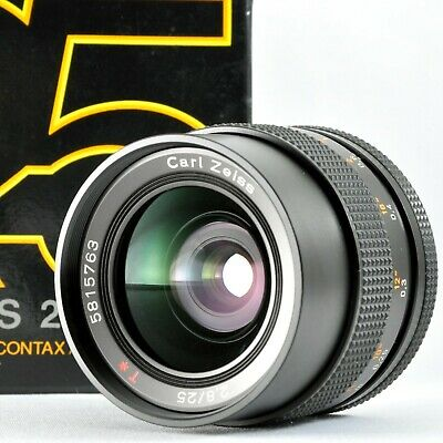 [N.Mint in Box] CONTAX 25mm f/2.8 AEG Carl Zeiss Distagon Manual Lens from Japan