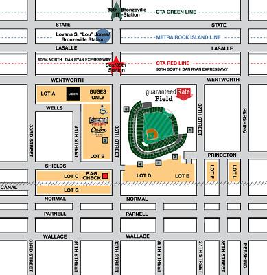 *Green Parking Pass* Chicago Cubs @ Chicago White Sox Wed 7/8/2020