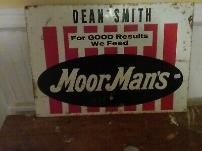 "Vintage MoorMan/'s Feed Rubber Advertising Magnet 2/"" x 1/"""