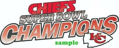 Kansas City Chiefs (A) Iron on Patch Embroidered Super Bowl LIV 54 Champion 2020