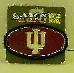 """Indiana University 2"""" Plastic Hitch - Team Full Color Domed Insert"""