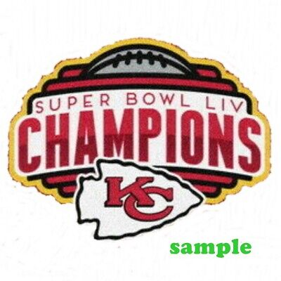 Kansas City Chiefs (C) Iron on Patch Embroidered Super Bowl LIV 54 Champion 2020