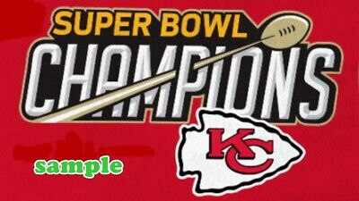 Kansas City Chiefs (D) Iron on Patch Embroidered Super Bowl LIV 54 Champion 2020