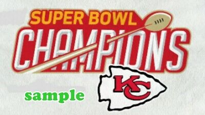 Kansas City Chiefs (E) Iron on Patch Embroidered Super Bowl LIV 54 Champion 2020